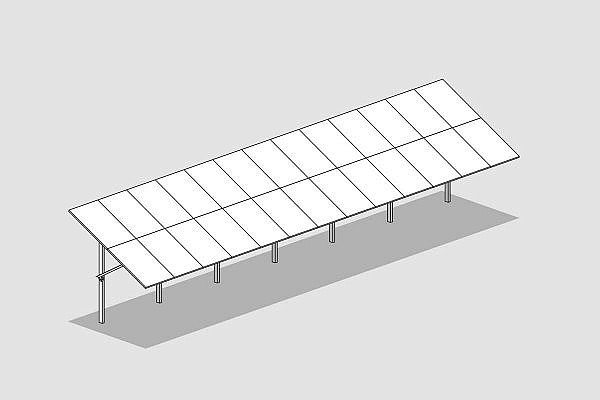 GMS® FLEX-Anlage mit 2 Panels vertikal
