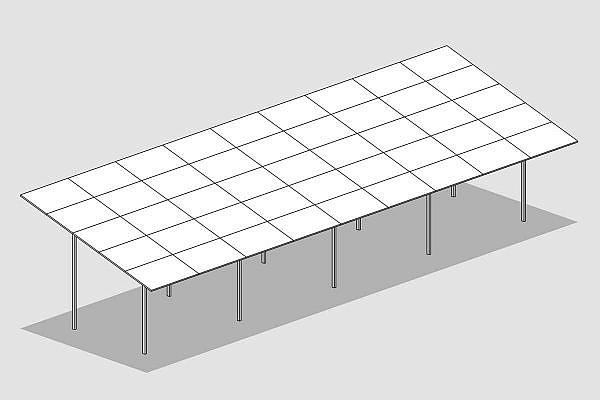 GMS® FLEX-Anlage mit 5 Panels horizontal ausgerichtet
