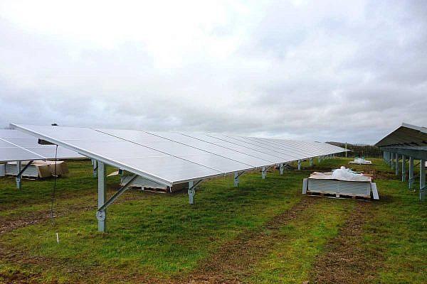 Nach der Montage der Solarpanels