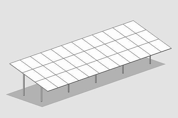 GMS MAX-Anlage mit 4 Panels vertikal
