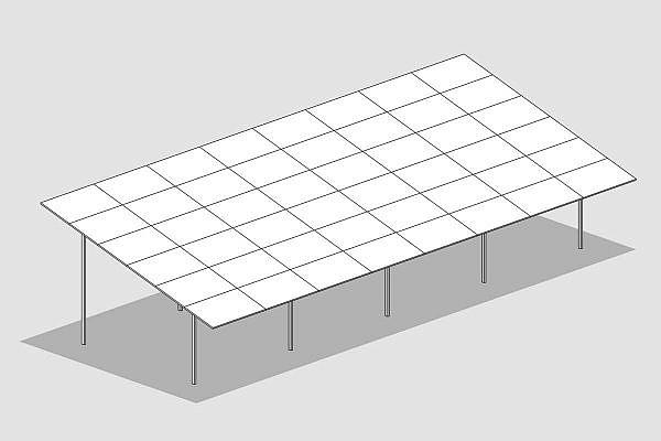 GMS MAX-Anlage mit 6 Panels horizontal