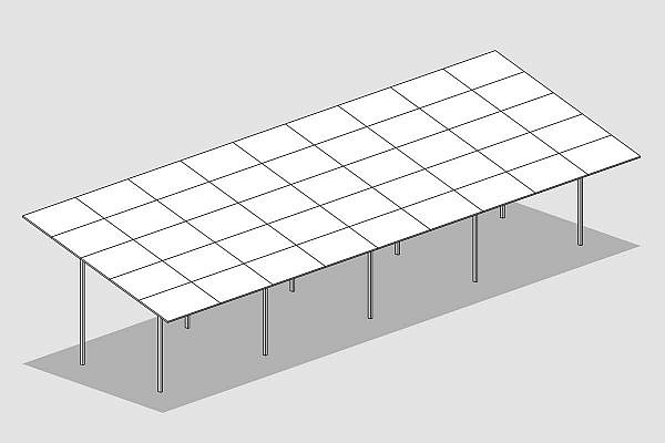 GMS® FLEX system with 5 panels aligned horizontally