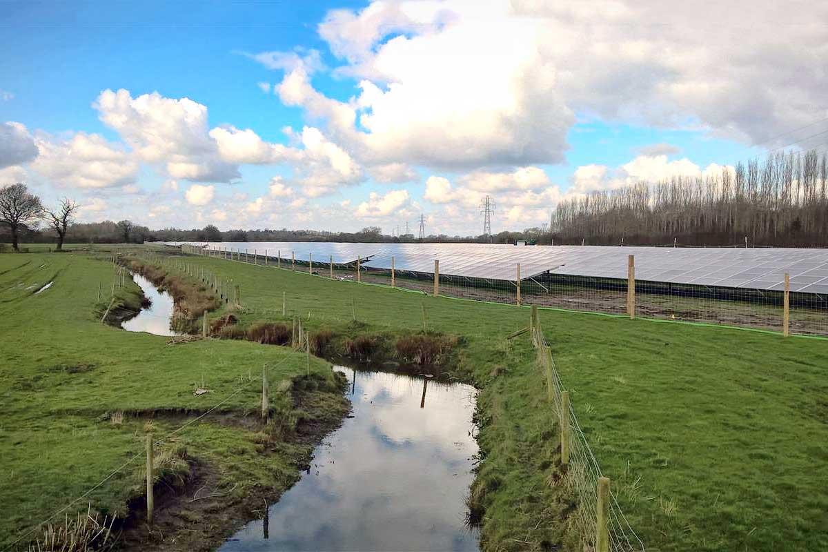 Solar park Marchington (GB)
