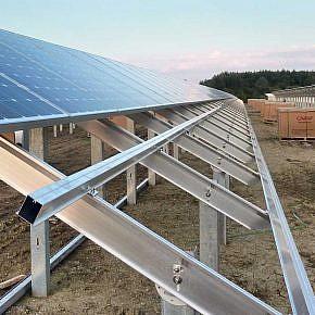 Installation of framed solar modules …