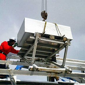 During the installation of the modules there was snow on the ground already