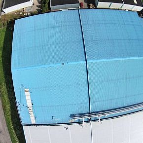 Before: Roof measuring using airborne drone