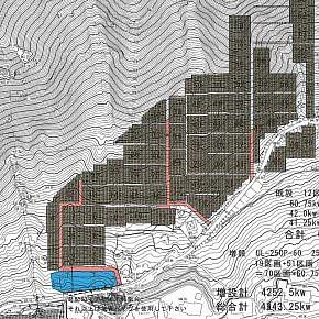 Site plan for a mountainous terrain