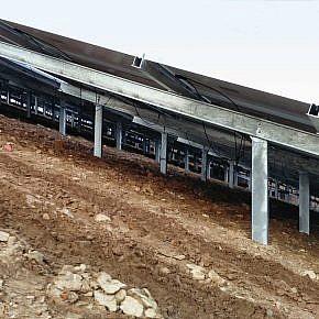 Herzogenrath, slope parallel installation