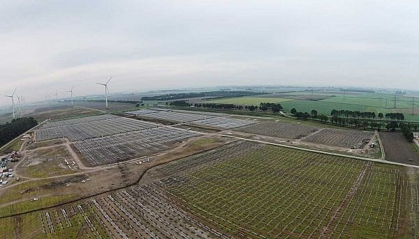 The Delfzijl site during construction
