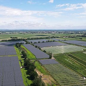 Solar park Schornhof in June 2021