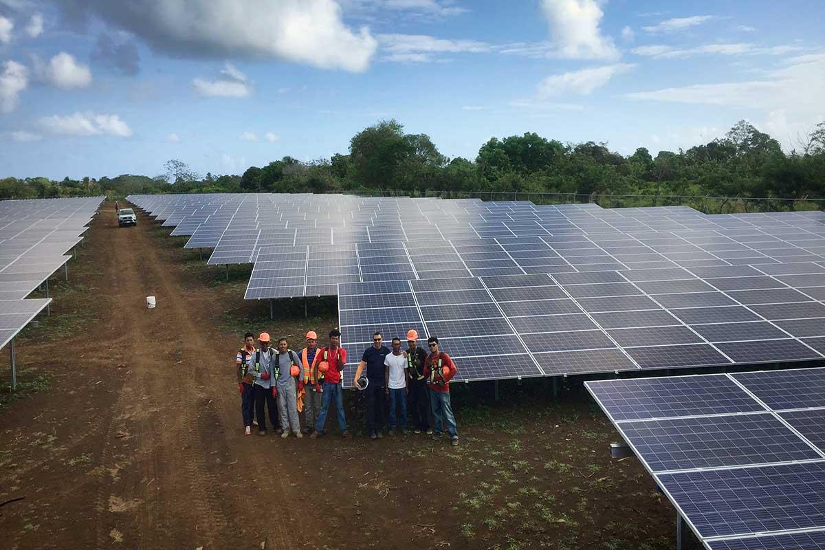 Solar park Corn Island, Nicaragua